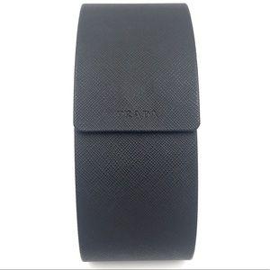 Prada Saffiano black hardshell sunglasses case